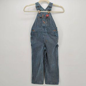 Dickies Blue White Striped Overall Bibs Toddler 4T